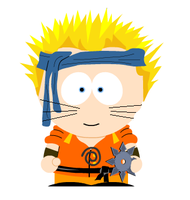Naruto goes to southpark by Trissacar