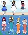 OCEAN/BEACH THEME ADOPTS SHEET: OPEN 7/7 by AmyRose507