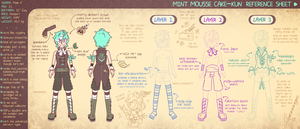 Minty-kun Ref Sheet 01 by Haulau