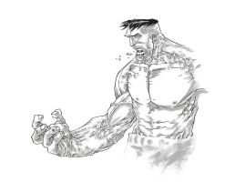hulk sketch by pencil-ambush