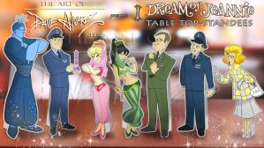 I dream of Jeannie standees by DaveAlvarez
