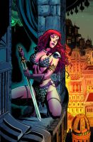 Red Sonja 66 cover color by wgpencil