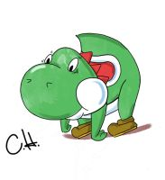 Yoshi Drawing by mrstupes