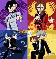 Persona Protagonists by MareckiRAWR