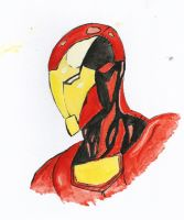 Iron Man Water Colour Study by Neutron-Flow