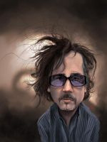 Tim Burton Caricature by KhasisLieb