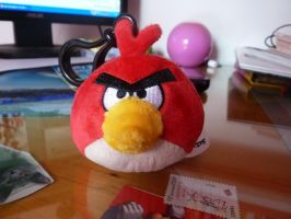 My new angry birds keychain plush by Aso-Designer