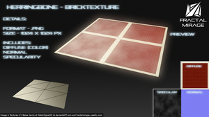 Herringbone 90 Degrees - Brick Texture #1 by MatchSignal3D