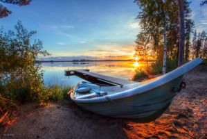 Finnish sunset by m-eralp