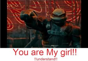 Raphael want to say!!! by MissTurtleLittle