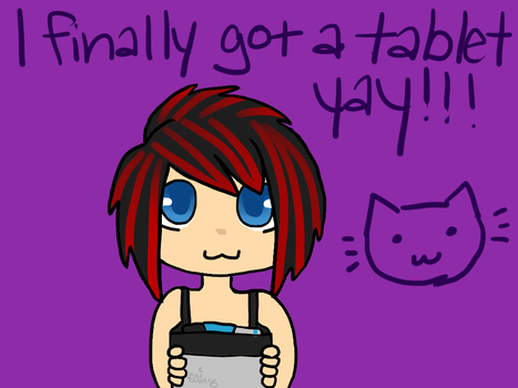 I finally got a tablet, first picture with it! by Lunarulerofevil