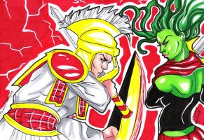 Ares vs Medusa psc puzzle by raccoon-eyes