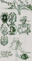 Literary Sketch Dump 1 by mickeythewicked