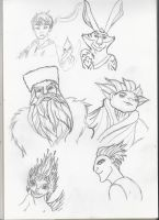 Rise of the guardians sketches by serget2