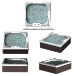 Stock PNG:  Hot Tub from Various Angles by ArtReferenceSource