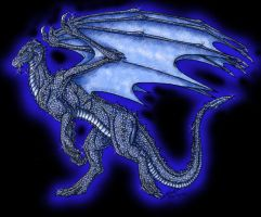 Sapphire Dragon by psycrowe