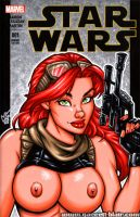 Naughty Mara Jade bust cover by gb2k