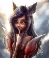 Ahri, the ninetales fox by obscureBT