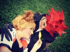 Axel and Roxas - Paopu. :3 by Sweepzebrine