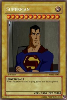 +Young Justice Cards+ Superman by phoenixtsukino