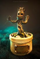 I AM BABY GROOT sculpture by keikei11