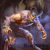 Age of Champions Minotaur Convict by anotherdamian