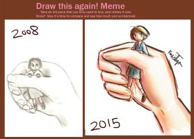 Draw this again Meme ~ Girl in Hand by Friendlyfoxpal