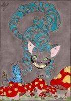 Cheshire e Absolem by CarolStelle