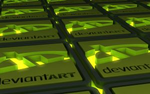 Cinema 4D GSG Kit - Glowin DeviantART Logo by Dracu-Teufel666