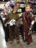 My Starlord, with Groot and Rocket by GingerBaribuu