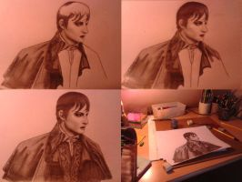 Dark Shadows - Barnabas Collins making off by michelleable