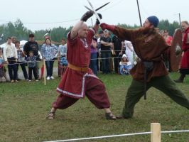 fight scene1:Lachute medieval by damocles-shop