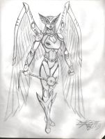 My Hawkgirl suit design by kanefinger1939