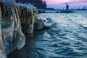 Frozen Danube by AlecsPS