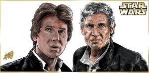 Han Solo -then and now Final by Lannytorres