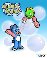 Bubble Bobble Brothers by Coshi-Dragonite