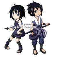 Commission -Sasuke and Sasuka by fi-chan2