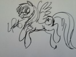 Lighting Drawn By Lauren Faust by Chrismilesprower