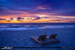 Beach-Chairs-at-Deerfield-by-the-Fishing-Pier-Brow by CaptainKimo
