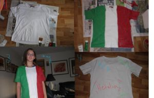 Italia T-shirt by IronMeow