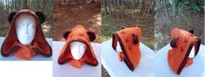 Ewok Hooded Cowl / Neckwarmer by WwYarningCentral