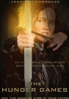 Katniss: Flaming arrow poster by Soph-LW