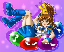 Arle Nadja From Puyo Puyo by Goldsickle