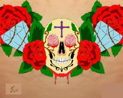 A world of your own inside a skull coloured by streetzdanzer
