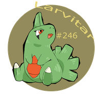 Mountain Larvitar by SometimesCats