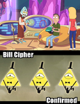 Bill cipher in Rick and Morty by aniamalman