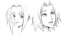 Sakura Haruno - now and then by Miyabou