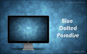 Blue Dotted Paradise Wallpaper by CezarisLT