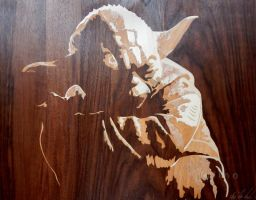 Yoda marquetry by Andulino