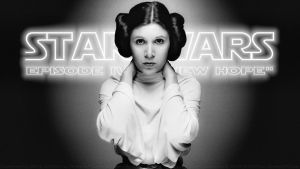 Carrie Fisher Princess Leia Poster by Dave-Daring